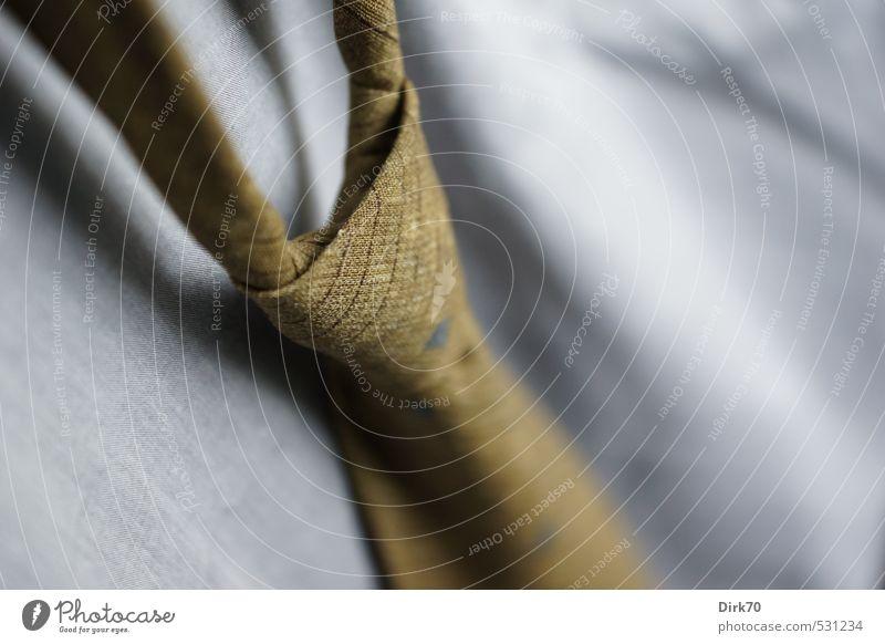Feierabend ... elegant Stil Arbeit & Erwerbstätigkeit Büroarbeit Bekleidung Hemd Krawatte Knoten Krawattenknoten Erholung Erfolg Sauberkeit seriös blau grau