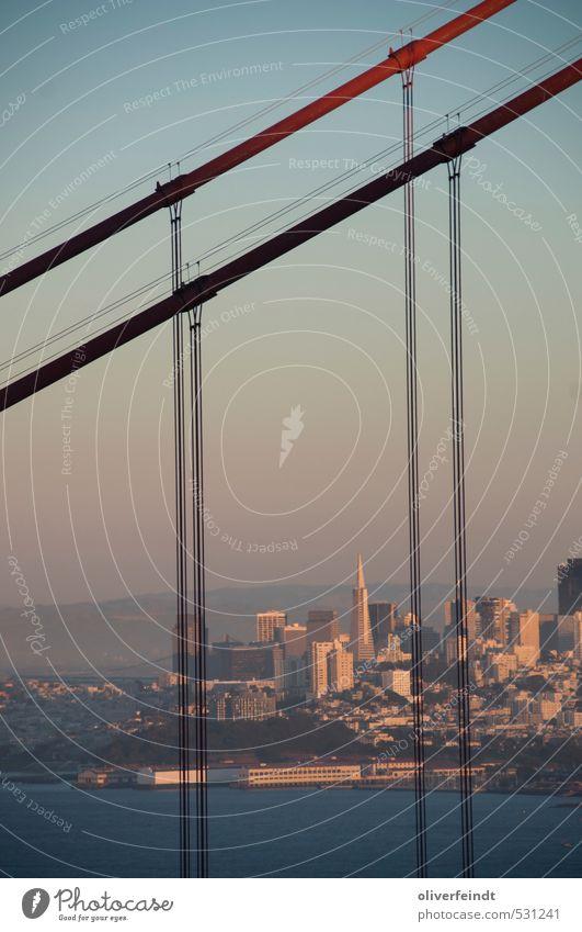 Golden Gate Himmel Ferien & Urlaub & Reisen Stadt blau Sommer Wasser Meer rot Ferne Architektur Küste Gebäude Freiheit Tourismus frei Hochhaus
