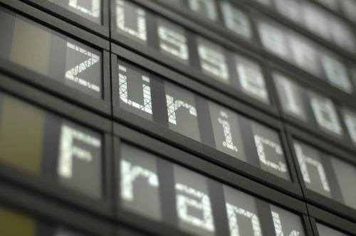 zuerich Business Flugzeug Schilder & Markierungen Schweiz Flughafen Kanton Zürich