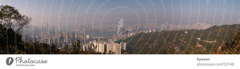 HK Panorama Himmel Asien China Stadt Hongkong Panorama (Aussicht) sky a simple panorama groß Panorama (Bildformat)