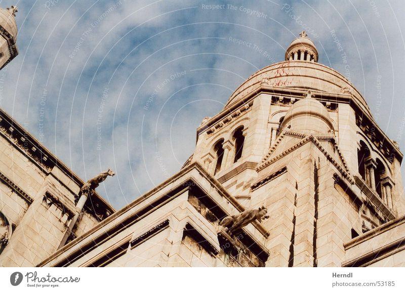 Sacré Coeur - Paris Himmel Mauer Religion & Glaube Kunst Turm Paris Sehenswürdigkeit Kuppeldach Sacré-Coeur