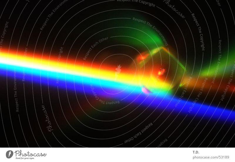 Prisma Licht Bruch Reflexion & Spiegelung rot gelb grün Würfel reflektion Linse Farbe blau