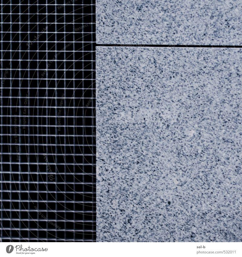 Gitter/Linie Stadt Gebäude Architektur Mauer Wand ästhetisch Granit Raster Zaun Geborgenheit Barriere außergewöhnlich Stadtleben modern kalt geteilt Trennlinie