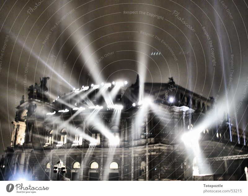 Semperoper Architektur Dresden Oper Erkenntnis Lightshow Barock Sachsen