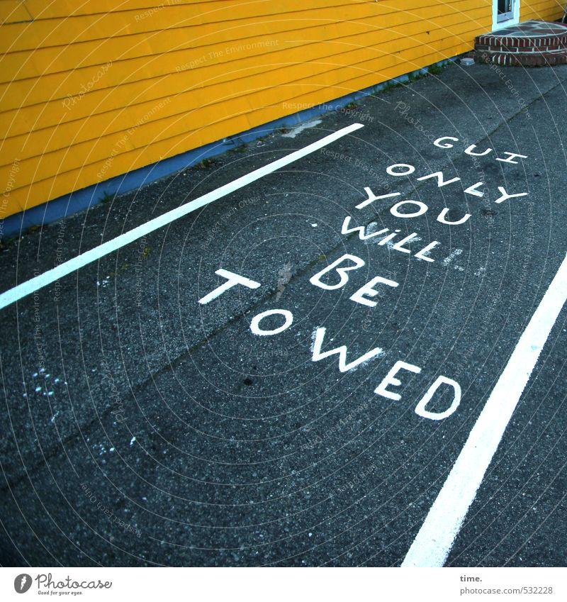 Schlechte Karten für Gui Freude gelb Wand Wege & Pfade Mauer außergewöhnlich Freundschaft Tür Verkehr Asphalt Partnerschaft Dienstleistungsgewerbe Verkehrswege