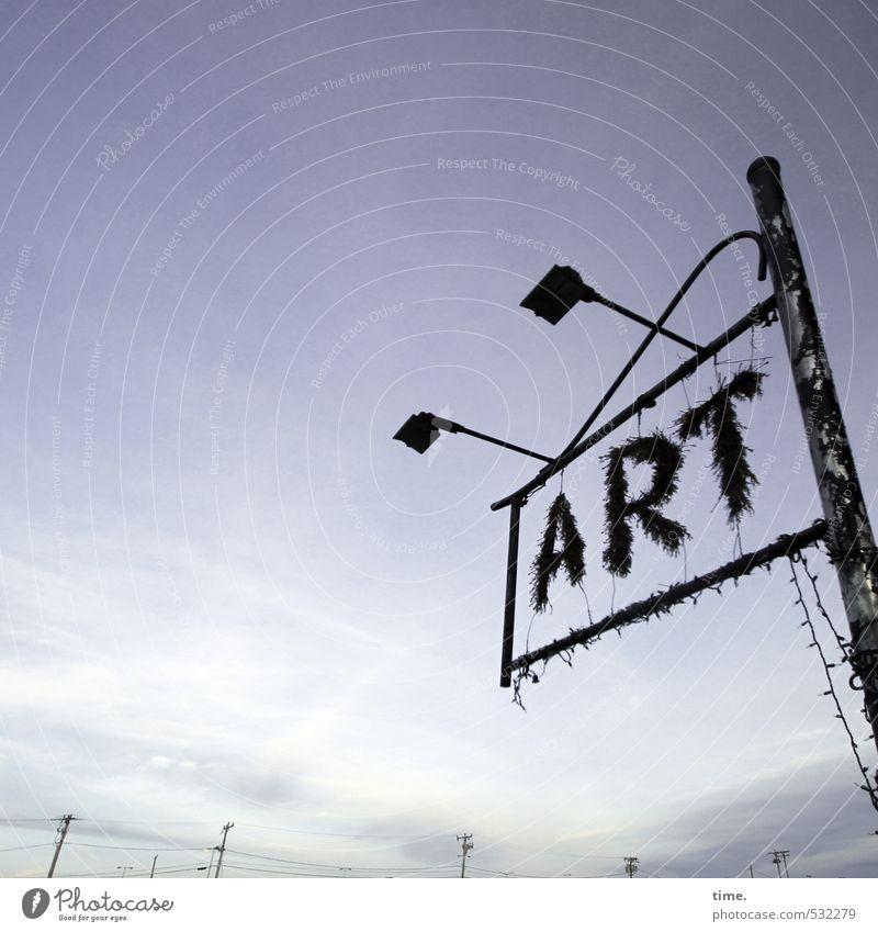 Good for your mind. Technik & Technologie Energiewirtschaft Hochspannungsleitung Kunst Kunstwerk Skulptur Lampe Laternenpfahl Straßenbeleuchtung außergewöhnlich