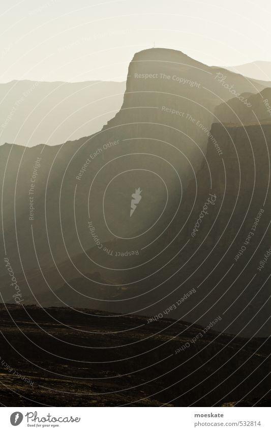 Oman Gebirge Einsamkeit Berge u. Gebirge Felsen groß kahl steil karg Steilwand