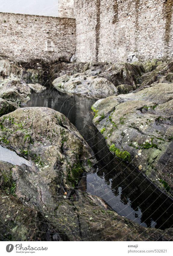 Mauer Mauer grau Stein See natürlich Felsen Urelemente Bach