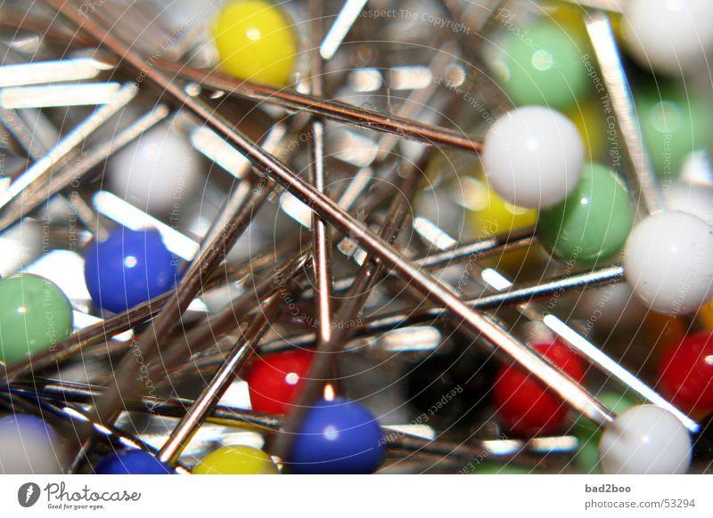 Needles Metall Spitze Kunststoff Nadel stechen Chrom Stecknadel heften