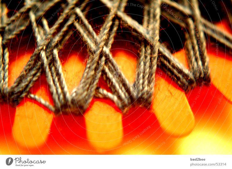 Zwirn 01 Nähgarn Nähen Stoff binden Schnur gekreuzt Faser gewebt Textilien Material Naht Stern (Symbol) wickeln blau orange Spinne spinnen genäht thread yarn