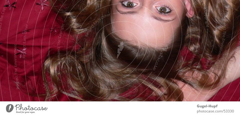 Augenblick Jugendliche Hand schön rot Haare & Frisuren Arme glänzend süß Stirn
