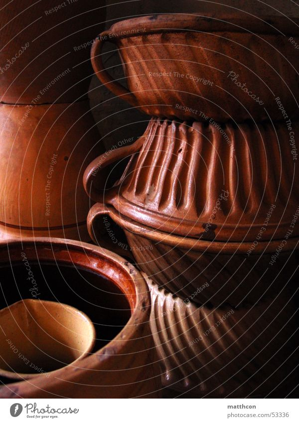 Getöpfertes Küche Handwerk Keramik Töpferei Steingut