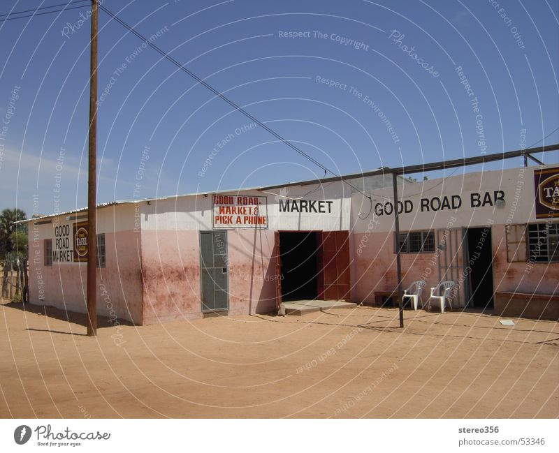 Good Road Bar Sand Bar Afrika Scheune Namibia