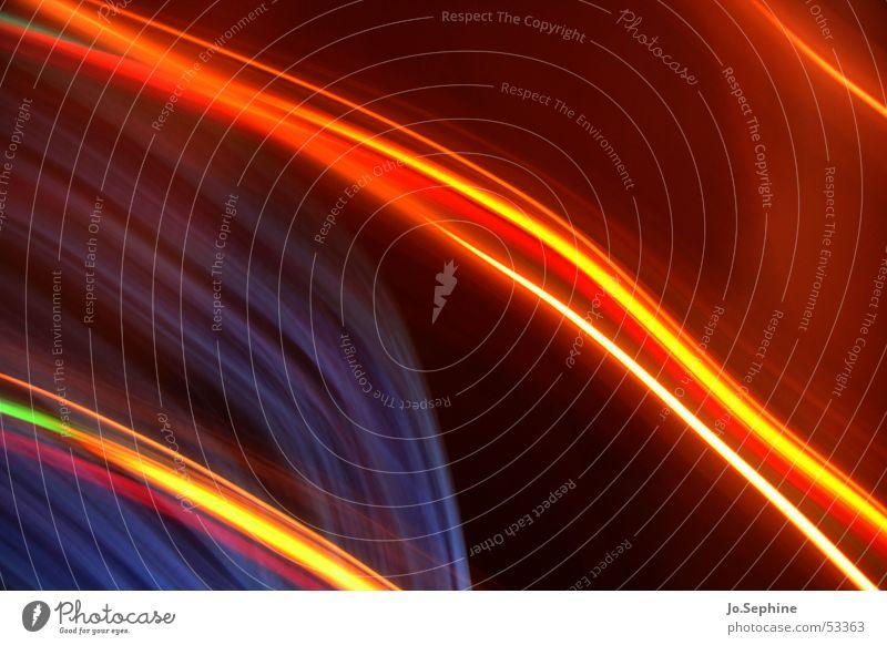 Light Lines blau rot Farbe gelb Bewegung Stil träumen Linie braun Energiewirtschaft Design Kommunizieren leuchten ästhetisch Kreativität durchsichtig