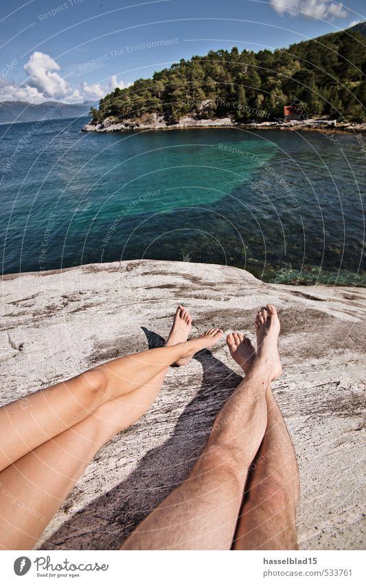 Frei.heit Mensch Kind Ferien & Urlaub & Reisen Jugendliche Sommer Sonne Meer Erholung Junge Frau Freude Strand Ferne Junger Mann 18-30 Jahre Erwachsene feminin
