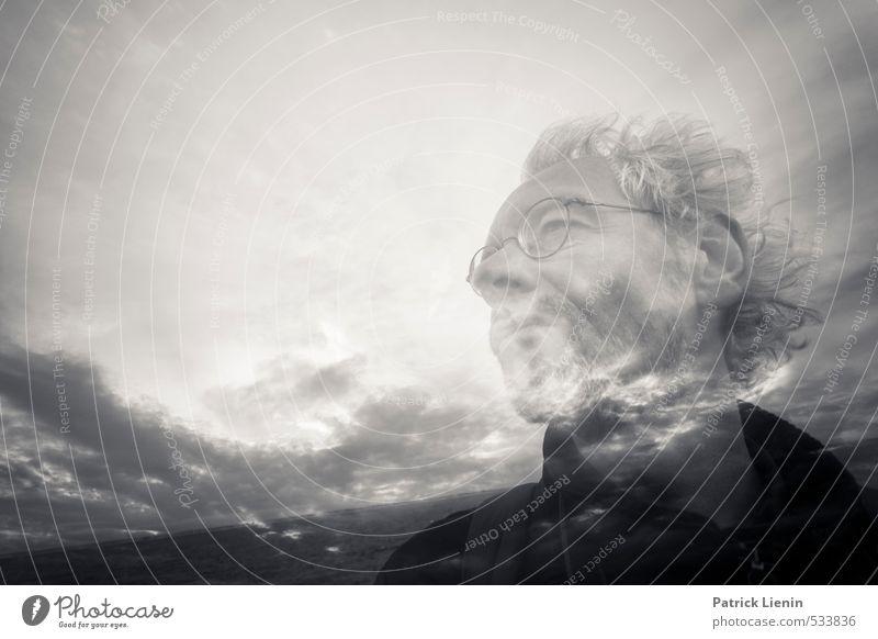 . Mensch Himmel Natur Mann Meer Wolken Erwachsene Umwelt Leben Haare & Frisuren Glück Kopf Freundschaft Stimmung Luft maskulin