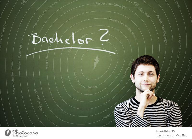 Bachelor? Mensch Kind Jugendliche Mann grün Junger Mann 18-30 Jahre Erwachsene Leben Arbeit & Erwerbstätigkeit Business maskulin Zufriedenheit Erfolg 13-18 Jahre Schriftzeichen
