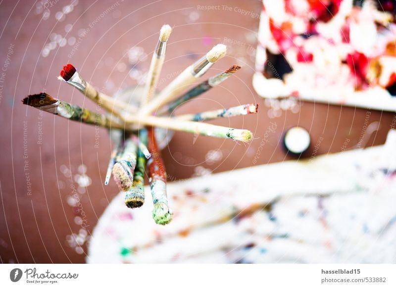 ROT Freude Erholung Renovieren lernen Student Arbeit & Erwerbstätigkeit Handwerker Anstreicher Kunst Maler Kunstwerk Gemälde Unendlichkeit Pinsel Farbstoff