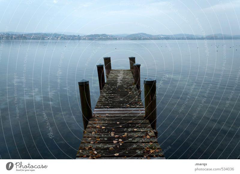Am Steg Himmel Natur alt schön Wasser Erholung Landschaft ruhig Ferne dunkel Freiheit See Horizont Stimmung elegant Lifestyle