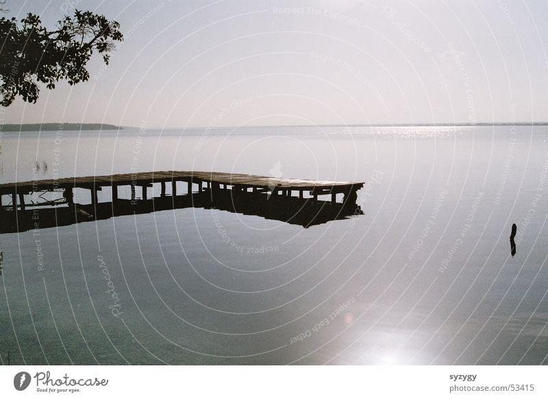 silence ruhig See Aussicht Meer Steg Erholung Wasser