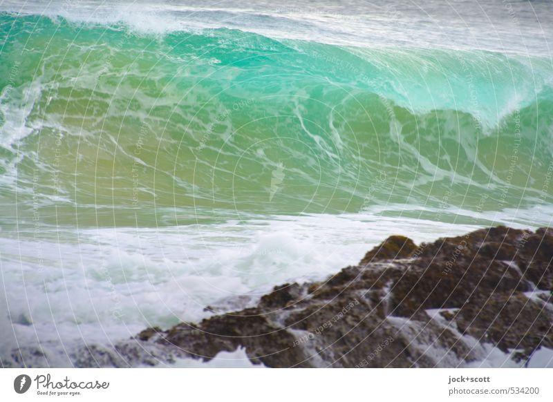 easterly Natur Urelemente Küste Riff Pazifik Australien Geschwindigkeit türkis Kraft Brandung Wellen Wellenschlag Wellenbruch Gischt Bewegungsunschärfe
