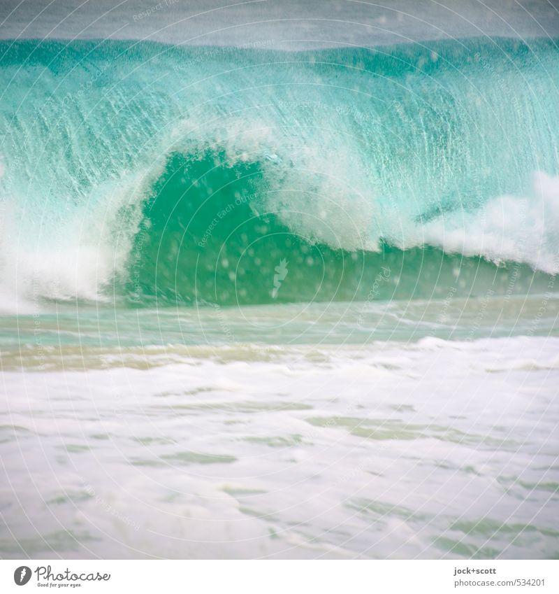 next wave Natur Wasser Meer Bewegung wild Kraft Wellen authentisch Erfolg frisch frei Energie groß Wassertropfen Geschwindigkeit nass