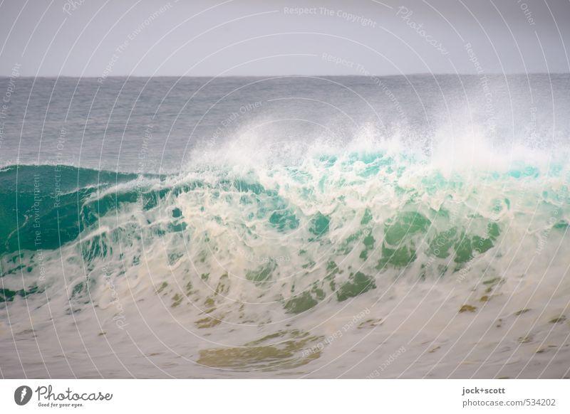 wave-like Natur Horizont Wind Wellen Pazifik Australien Geschwindigkeit Kraft Gischt Wellenschlag Naturgewalt Wellental Wellengang Hintergrund neutral