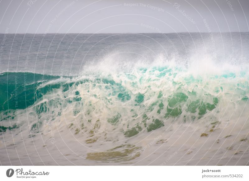 wave-like Natur Wasser Horizont Wind Wellen Pazifik Australien Bewegung bedrohlich Geschwindigkeit stark Kraft Energie Gischt Wellenschlag Naturgewalt Wellental