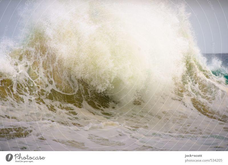breaking wave Natur Wasser Wellen Pazifik Australien Bewegung bedrohlich exotisch Flüssigkeit hoch nass natürlich Geschwindigkeit Kraft Energie Umwelt Wachstum