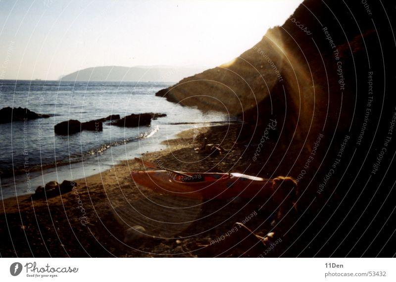 Elba Wasser Sonne Meer Strand Insel Kanu