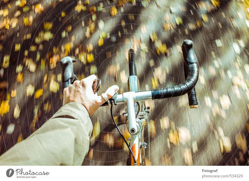 Mensch Sport Regen Klima genießen Fitness Fahrradfahren Sport-Training