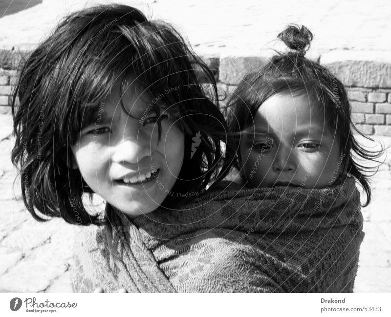 Namaste Mädchen Appetit & Hunger Nepal heimatlos Kathmandu Namaste Bhaktapur