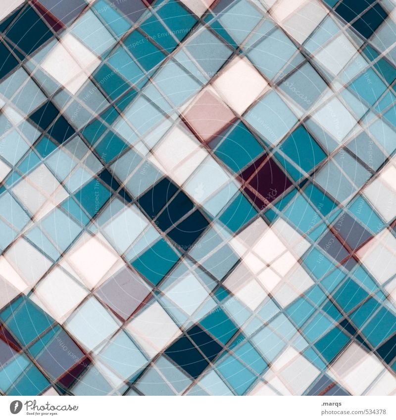 Mosaik (winter edition) Stil Design Linie außergewöhnlich eckig trendy einzigartig modern verrückt blau rosa türkis weiß Farbe Kreativität Ordnung Perspektive