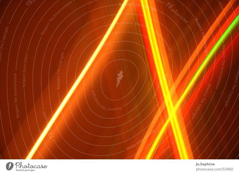 Crossing Light Lines rot Farbe gelb Stil träumen Linie braun Design leuchten ästhetisch Kreativität durchsichtig Inspiration Rausch gerade innovativ
