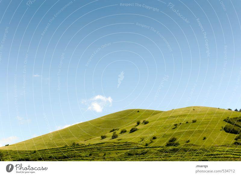 Hügel Natur Ferien & Urlaub & Reisen blau schön grün Sommer Landschaft Wiese Schönes Wetter Wolkenloser Himmel