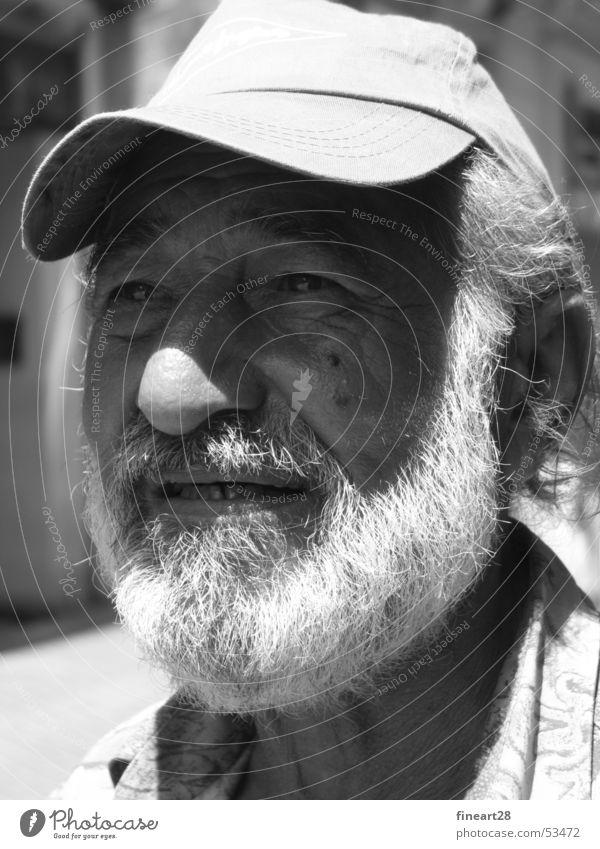 Old Man Mann Bart charaktergesicht Falte