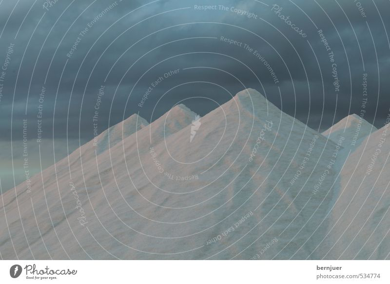Salz Himmel blau Wolken dunkel Berge u. Gebirge Sand Stimmung Surrealismus Gewitter Salz Gewitterwolken Haufen Streusalz