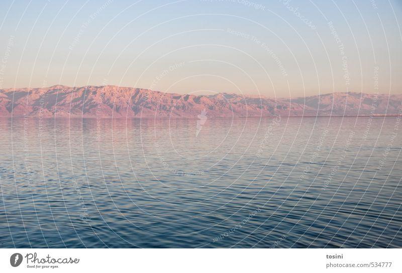 the dead sea Umwelt Natur Landschaft Wasser Himmel Wolkenloser Himmel Berge u. Gebirge Küste blau Totes Meer Israel falsch Farbfoto Außenaufnahme Menschenleer