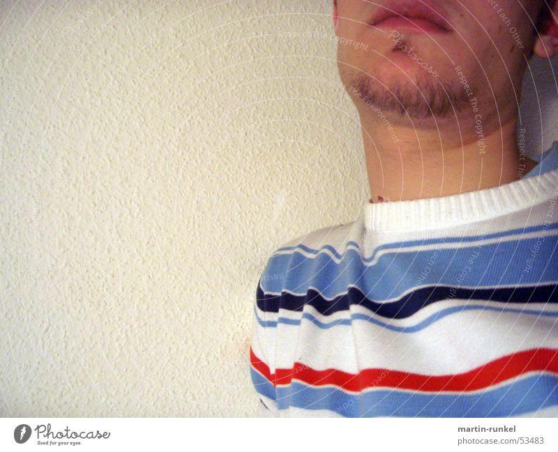 streifenhoernchen Mensch Streifen Hals Raufasertapete Streifenpullover