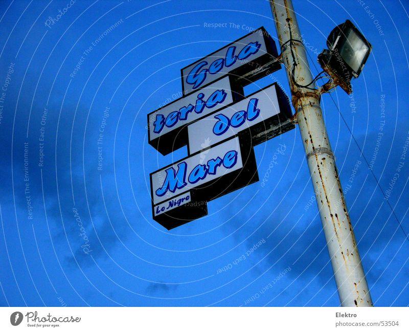 Lo Nigro Speiseeis Meer Neonlicht Beleuchtung Laterne Eisdiele Dessert Ferien & Urlaub & Reisen Hotel Italien Mittelmeer Camping Campingplatz Hafen Süßwaren