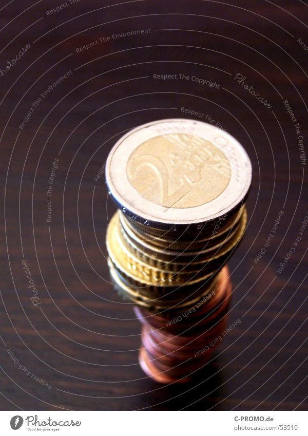 Kleingeld II Geldmünzen Business Zufriedenheit braun Metall Tisch Europa Bar Turm Kapitalwirtschaft Cent