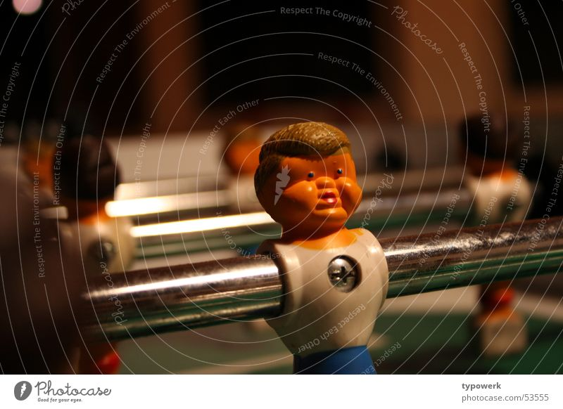 Dicke Backen ... Gesicht Sport Spielen Haare & Frisuren Fußball Aktion Statue Wange Schraube Stab Spielfigur Tischfußball