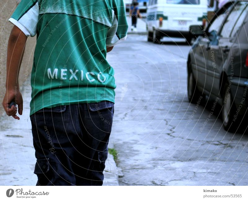 mexico grün Straße Junge Wege & Pfade Armut T-Shirt Hemd Mexiko