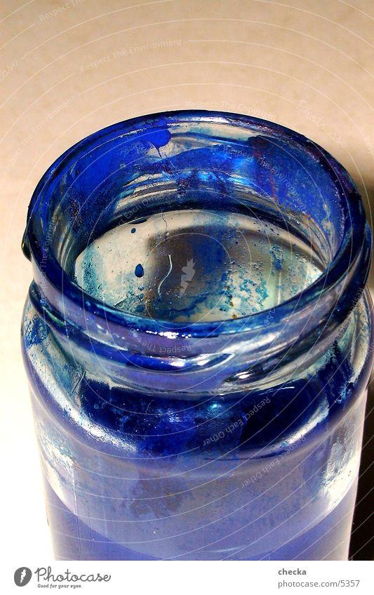 farbglas blau Farbe Glas Dinge