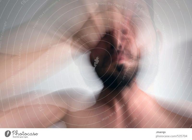 Schmerz Mensch Mann Erwachsene Traurigkeit Kopf Stimmung Pause Zeichen Konzentration Beratung Sorge Scham Enttäuschung 30-45 Jahre negativ