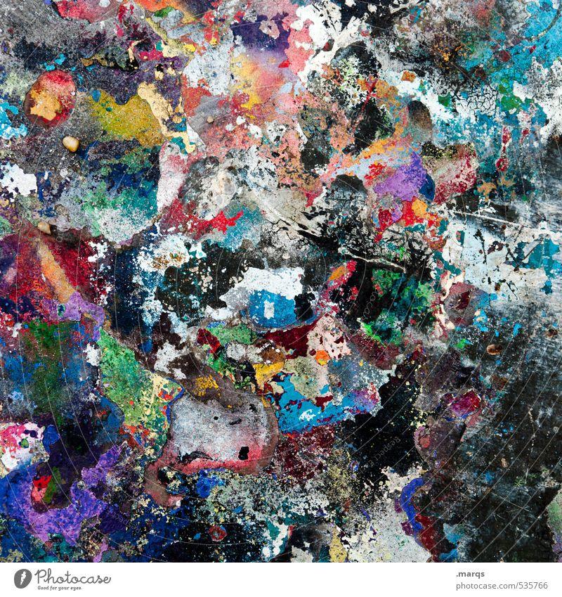 Buntes Treiben Farbe Graffiti Farbstoff Stil außergewöhnlich Kunst elegant Lifestyle Design verrückt einzigartig Kreativität viele chaotisch Anstreicher
