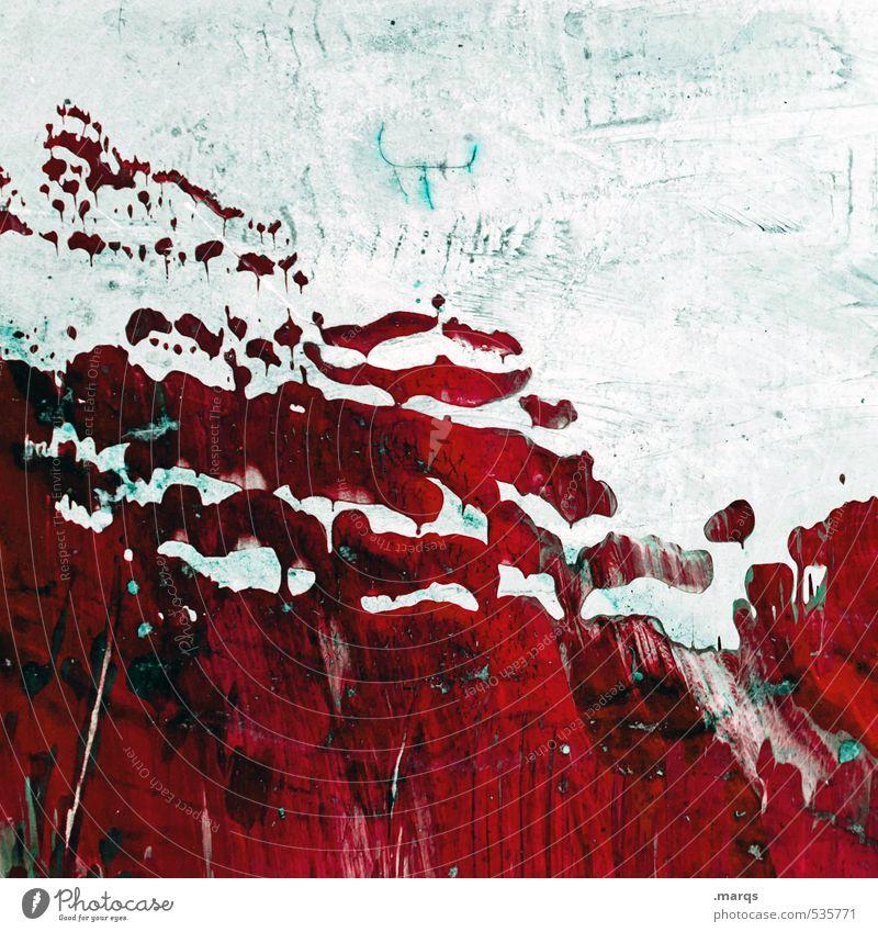 Schmierfink Stil Design Subkultur Mauer Wand Kunststoff außergewöhnlich dreckig einzigartig trashig rot weiß Farbe Kreativität Farbstoff Farbfoto Außenaufnahme