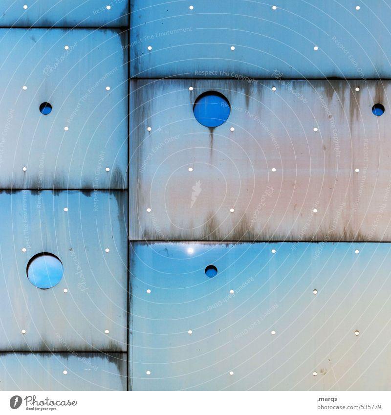 Sternstunde blau weiß Farbe Fenster Stil außergewöhnlich Metall Hintergrundbild Fassade elegant Lifestyle Design Ordnung Coolness einzigartig