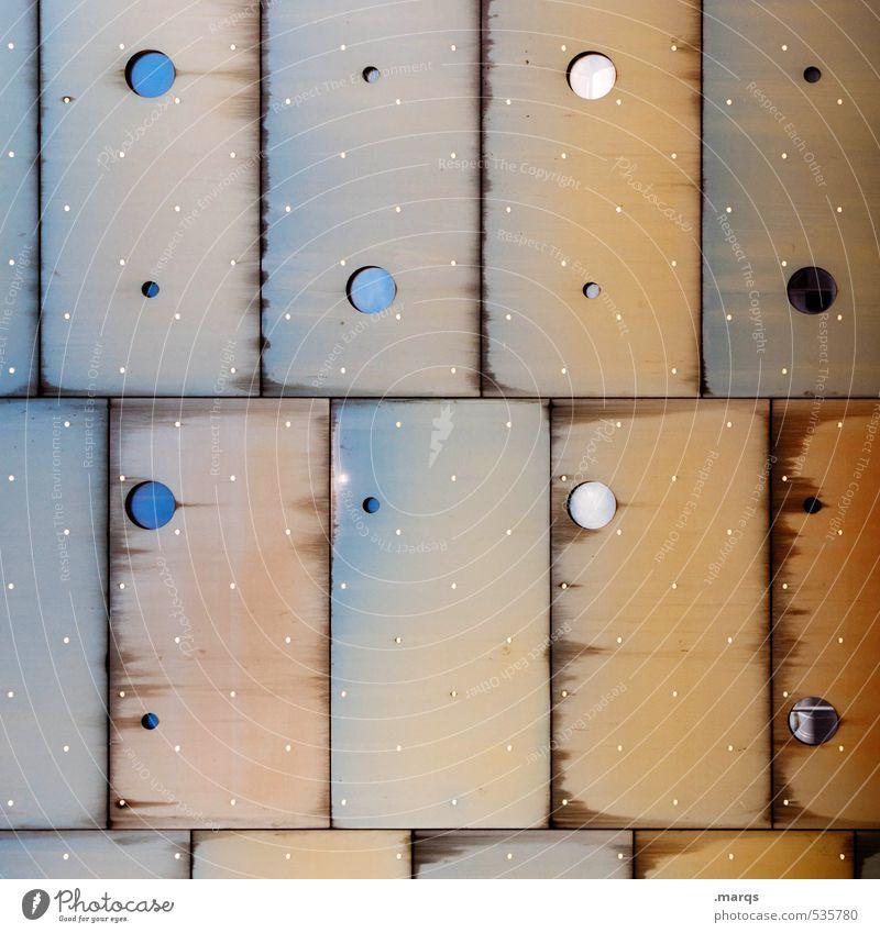 Bullaugen Lifestyle elegant Stil Design Bauwerk Fassade Glas Metall Linie außergewöhnlich Coolness eckig trendy einzigartig modern retro rund verrückt blau