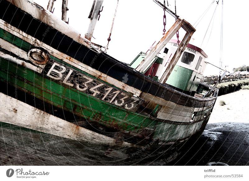 Altes Boot alt Meer Wasserfahrzeug Verfall Normandie